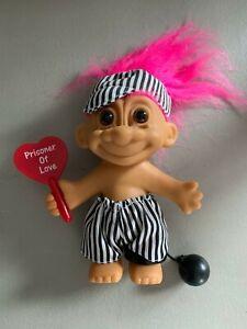 "Russ Troll Doll Valentine's Day Prisoner of Love 4.5"" Pink Hair Vintage"