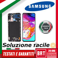 DISPLAY LCD+TOUCH SCREEN+FRAME PER SAMSUNG GALAXY A70 SM-A705F VETRO SCHERMO 24H