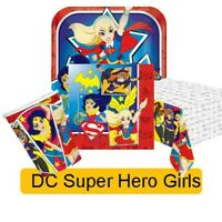 DC SUPER HERO GIRLS Birthday Party Range Tableware Balloons & Decorations Amscan