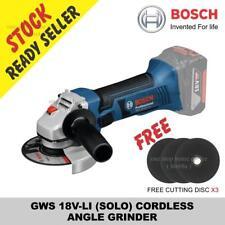 BOSCH GWS 18V-LI (SOLO) CORDLESS ANGLE GRINDER Free cutting disc x3