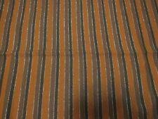 "Vintage Wool Handwoven w/Lurex Fabric Orange, and Brown 3.25 yrds 25"" Wide"