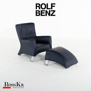 ROLF BENZ 322 Sessel mit Hocker