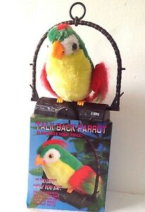 Beautiful Talking Parrot Repeat Voice Recorder Toy-Ideal Gift for birthday ,Xmas
