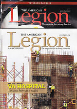SHIPPED IN A BOX -  American Legion Magazine 2 Issues October & November 2013