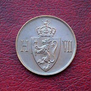 Norway 1907 superb uncirculated bronze 5 ore