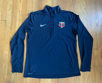 Minnesota Twins Nike Dri-Fit 1/4 Zip Pullover Size L EUC Blue MLB