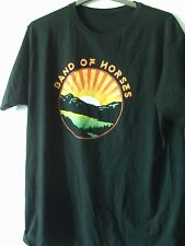 BAND OF HORSES LAKEFRONT SUNRISE NEW COTTON T SHIRT XL CHEST 46 INCHES BLACK