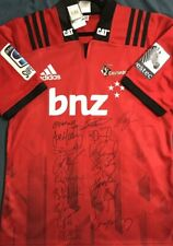 THE CRUSADERS 2019 SUPER RUGBY CHAMPIONS SIGNED JERSEY