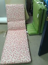Frontgate Grandinroad Outdoor Patio Chaise Lounge Cushion Pink Tempo 73x23 NEW