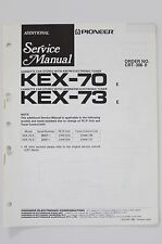 PIONEER KEX-70 KEX-73 Original ADDITIONAL Service-Manual/Schaltplan o62