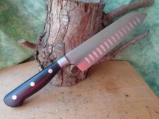 Lot de 3 Couteaux de Cuisine Santoku Lame Forgée Acier Carbone/Inox C1602A