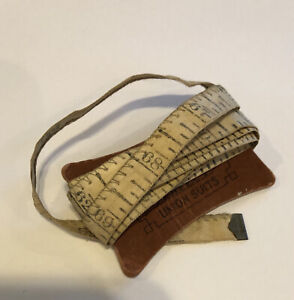 Vtg Seamstress Tailor Measuring Tape JC Penny's Advertising Leather Cloth Sewing