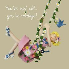 Birthday Card - Female Not Old You're Vintage Funny Humour One Lump Or Two