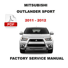 MITSUBISHI 2011 - 2012 OUTLANDER SPORT FACTORY WORKSHOP SERVICE REPAIR MANUAL