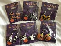 Bewitched HALLOWEEN Earrings trick or treat Jewelry Collection 6 Sets Earrings
