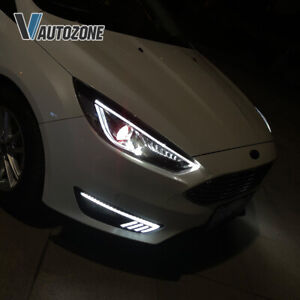 VLAND Headlights Fit For Ford Focus 2015-2018 Sedan/Hatchback Sequential Signal
