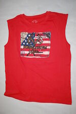 618b122604cee Mens T-Shirt MUTED RED MUSCLE TEE Realtree AMERICAN TRADITION 1986 Flag XL  46-