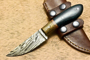 SFK Handmade Damascus Steel Hard Wood Hunting Skinner Knife