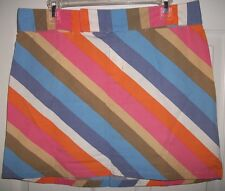 i.e. Relaxed Women's Multicolored Pastel Striped Skirt Size 12