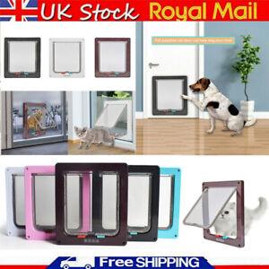 Pet Door Frame Safe 4 way Locking Small Medium Large Dog Cat Flap Magnetic ABS