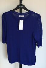 Neues AngebotM&s per una Größe 10 Viskose Mischgewebe Kurzarm Pullover Top Bnwt Royal Blau
