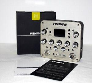 Fishman Platinum Pro EQ Acoustic Pre Amp Pedal DI Open Box Guitar Bass