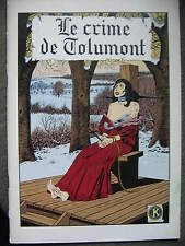 BD le crime de tolumont EO 1985 TBE piroton jess long anthines