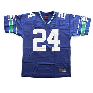 Vintage Seattle Seahawks Shawn Springs #24 Nike Youth L NFL Football Jersey