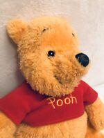 "Disney Winnie the Pooh Plush Soft Furry & Cute Loosely Stuffed 14"""
