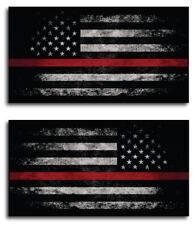 Thin Red Line Sticker Tattered American Flag Decal FIREFIGHTER Lives Matter