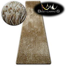 FLUFFY CHEAP SOFT RUNNER SHAGGY 'NARIN BEIGE' HIGH QUALITY nice in touch CARPETS
