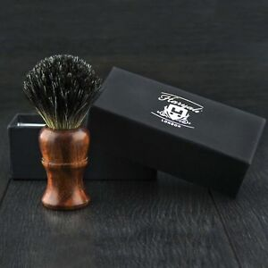 BRAND NEW - 100% PURE BADGER HAIR SHAVING BRUSH - Wood Wooden Brush