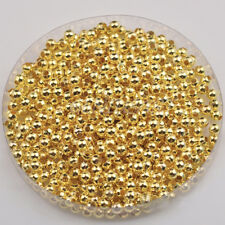 1000x Gold/Silver Plated Round Ball Spacer Bead 3mm Jewelry Finding Charm Hot