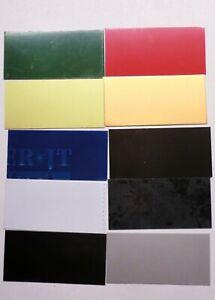 5 St. Schild Alu 10x5cm ideal für Beschriftung Gravur versch. Farben Aluminium