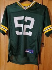 GREEN BAY PACKERS CLAY MATTHEWS YOUTH L LARGE Reebok NFL Football Jersey  #52