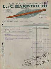 DRESDEN, Rechnung 1924, KOH-I-NOOR-Bleistift-Fabrik L. & C. Hardtmuth