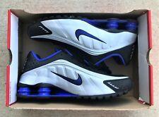 Nike Shox R4 Black Silver Blue Running Shoes 104265-047 Men's 10, Women's 11.5
