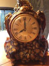 Vintage Landshire vomit clock brown