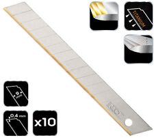 10x Titan Cuttermesser-Klingen 9mm Ersatzklingen Cutterklingen titanbeschichtet