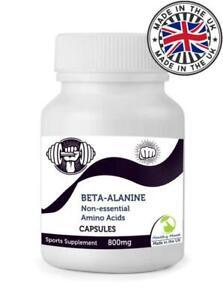 Beta-Alanine 60 Capsules UK Non-essential Amino Acid Pills