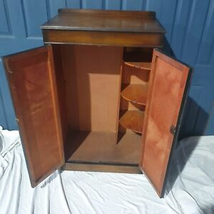 Antique art nouveau/ deco Gentlemen's wardrobe cupboard cabinet