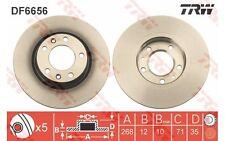 TRW Juego de 2 discos freno 268mm ventilado para CITROEN C4 PEUGEOT 308 DF6656