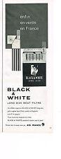 PUBLICITE  1964   BLACK & WHITE   cigarettes  par AIR FRANCE