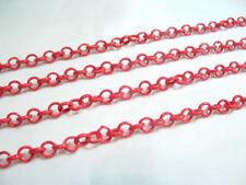 2 metres x Metal Belcher Chain - BNChain25 Cherry Red