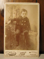ANTIQUE 1894 KIDNAPPING OF JACK MACBRIDE FARGO ND COWBOY LAND CABINET CARD PHOTO