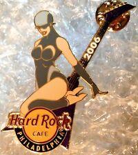 Hard Rock Cafe PHILADELPHIA 2006 CHROME CLUB PIN Sexy Girl & Guitar - HRC #31402