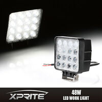 "4"" Inch 48W CUBE LED Work Light Flood Beam Lamp for OffRoad Truck 4WD 4X4 Jeep"