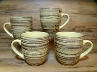 SET OF 4 - THOMSON POTTERY - BIRCH - 16 OZ. COFFEE MUGS / CUPS - NICE