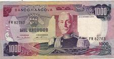 BILLET BANQUE ANGOLA 1000 escudos 1972 état voir scan 763
