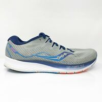 Saucony Mens Ride ISO 2 S20514-1 Gray Blue Running Shoes Lace Up Size 12.5
